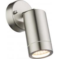 Светильник уличный Globo 32068, матовый никель, LED, 1x4,4W