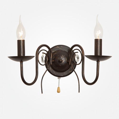 Бра в классическом стиле 60018/2 черный с золотом