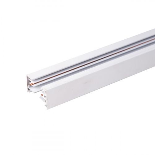 Однофазный шинопровод 1 метр белый (с вводом питания и ..