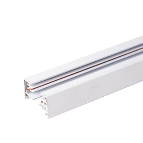 Однофазный шинопровод 3 метра белый (с вводом питания и..