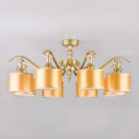 Потолочная люстра с золотистыми абажурами 60070/8 перламутровое золото