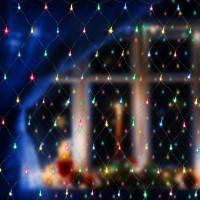 Праздничная гирлянда сеть мульти 1,5*1,5м IP20 300-001