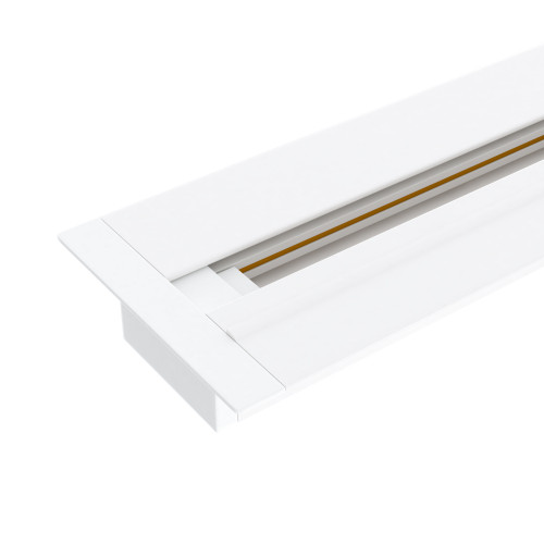 Встраиваемый однофазный шинопровод 1 метр белый (с ввод..