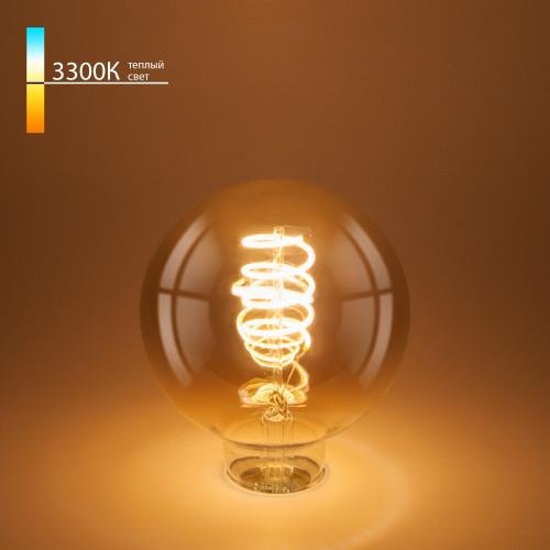 Филаментная светодиодная лампа G95 8W 3300K E27 BLE2709