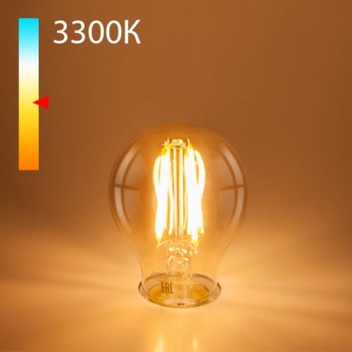 Филаментная светодиодная лампа А60 12W 3300K E27 (тонир..
