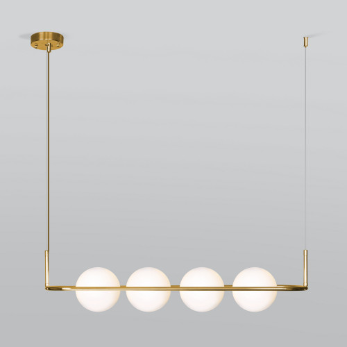 Подвесной светильник со стеклянными плафонами 50089/4 золото
